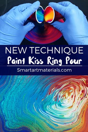 Video Tutorial on NEW Paint Kiss acrylic pouring technique by Olga from Smart Art Material Join our awesome Facebook group called Smart Art Materials for more info
