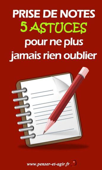 Prise de notes : 5 astuces pour ne plus jamais rien oublier - #astuces #de #jamais #ne #Notes #oublier #pour #prise #rien