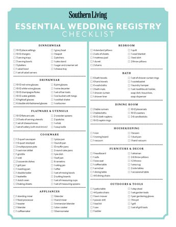 There are so many options available that it's hard to know what's essential for your registry. We recommend using our wedding registry checklist to make sure you've covered all your bases.