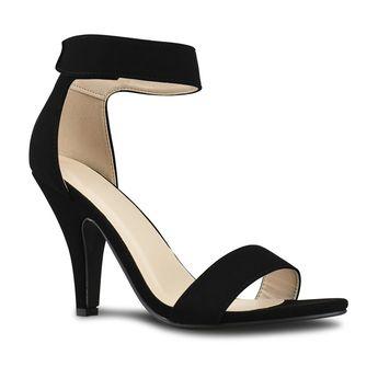 c8acd242d230b2 Women s Open Toe High Heel Velcro Ankle Strap Dress Sandal Heeled-Sandals -  Black Nbpu