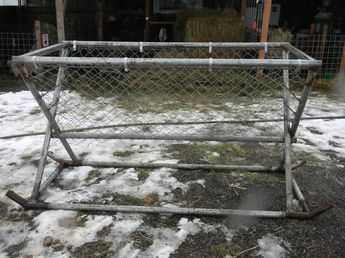 Hay Feeder From Old Futon Frame