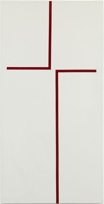Carmen Herrera (b. 1915), The Way, 1970. Acrylic on canvas, 60 × 30 in. (152.4 × 76.2 cm). Private collection © Carmen Herrera; courtesy Lisson Gallery
