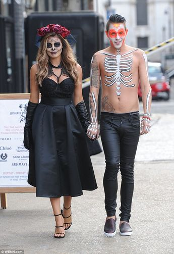 TOWIE's Billie joins Ferne and Jessica Wright for Halloween bash