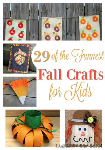 29 of the Funnest Fall Crafts for Kids