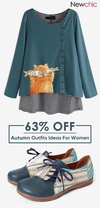 Up to 70% OFF Women #Vintage Fashion #Outfit #Casual #Shirt #Boot #Flat