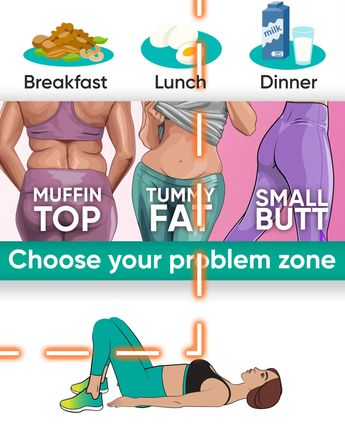 Workouts with a special diet will help you to get rid of extra fat in your problem zone!!! Muffin top, tummy fat or small butt will disappear after trying the exercises below!!! Make your body look perfect!!! #fatburn #burnfat #gym #athomeworkouts #exercises #weightlosstransformation #exercise #exercisefitness #weightloss #health #fitness #loseweight #workout