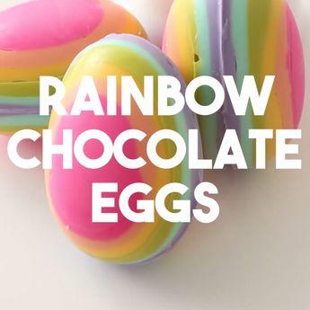 Rainbow Chocolate Eggs