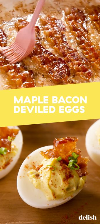 Maple Bacon Deviled Eggs