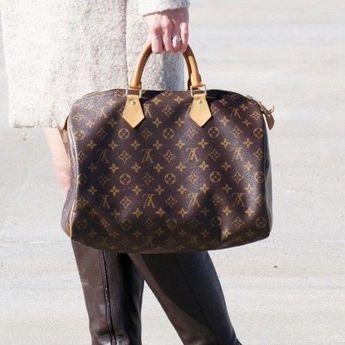 c89917337f526 Details about Louis vuitton handbag Speedy 35 Monogram Mini Boston Hand Bag  Purse Auth