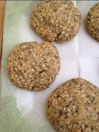 Grain Free Hemp Seed Breakfast Cookies (with chia and coconut) -