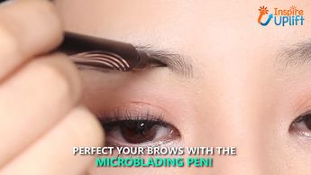 "The ""Waterproof Microblading Pen"" is a new-concept, four-tip pen that colors each eyebrow with a long wearing, super natural look that lasts all day, without smudging! The unique 4-tip applicator allows you to create a more hair-like, natural brow appearance. Obtain beautifully polished eyebrows using the selection of shades to find one that matches your hair color. When the color wears out after two or three days, simply retouch them and maintain the color.  Currently 50% OFF with FREE Shipping"