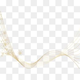Gold Line Light-emitting Decorative Elements, Golden, Holiday Elements, Christmas PNG and Vector with Transparent Background for Free Download