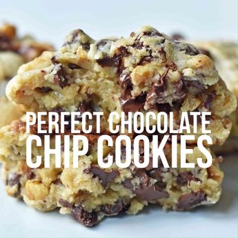 The Perfect Chocolate Chip Cookies. Levain Bakery FAMOUS copycat chocolate chip cookie recipe. How to make the best chocolate chip cookies by Modern Honey. www.modernhoney.com #cookies #chocolatechipcookies #foodvideos #foodvideo