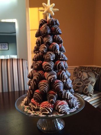 Chocolate covered strawberry tree. by jill