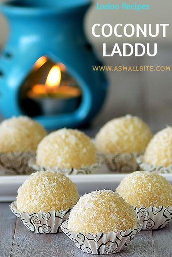 Coconut Ladoo Recipe (with condensed milk) | Coconut Laddu