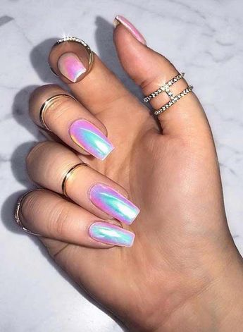 Modern styles of unicorn nail arts and designs for women to show off right now. We have made a collection of best nail designs to sport nowadays. #NailManicure