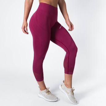 3361dd0887f52 Muscle Nation Seamless High Waisted 7/8 Leggings – Mulberry