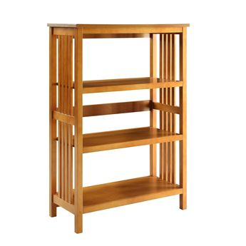 Mission 3 Shelf Bookcase White Legacy