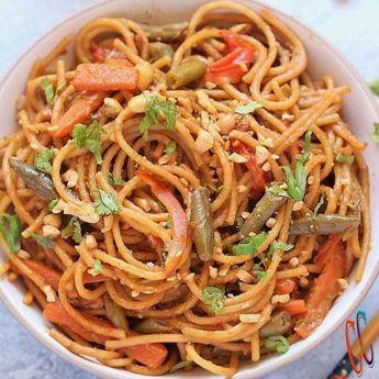 Instant Pot Thai Peanut Sauce Noodles