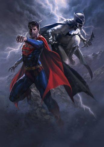 Batman & The Dark Knights of Gotham — Superman Batman by danielmchavez