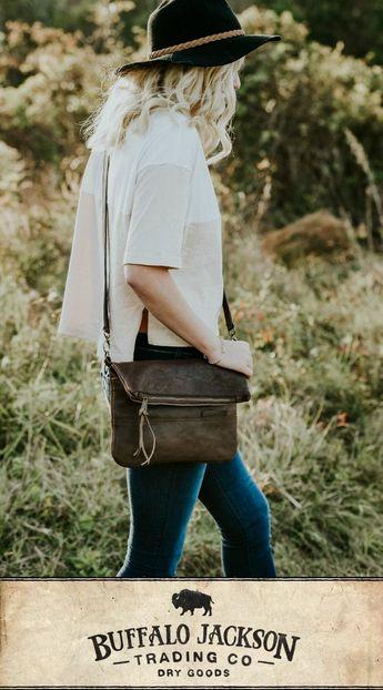 Madison Leather Crossbody Foldover Clutch | Dark Hazelnut