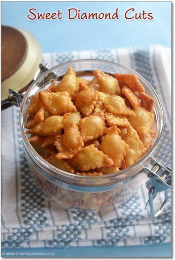 Sweet Diamond Cuts Recipe - Maida Biscuits Recipe