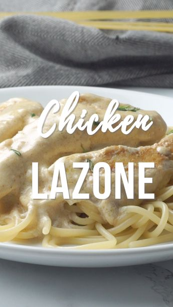 Chicken Lazone - ready in 15 minutes - no prep required! We made this 3 days in a row! Chicken seasoned with salt, chili powder, onion powder, garlic powder, and cayenne then simmered in butter and heavy cream. Seriously THE BEST!!! Better than any restaurant!!