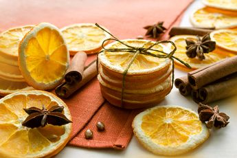 Make your own natural home deodorizer by cutting up fruits, add spices and herbs and bring to a boil. Let it simmer and gorgeously scented vapor will travel throughout your home changing the scent signature and making it smell amazing!