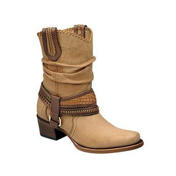 516fea12b5 Cuadra Damen Western- Cowboystiefel (Kalbsleder mit Schlangenleder) 2F17NP  Lederwaren Damen Stiefel