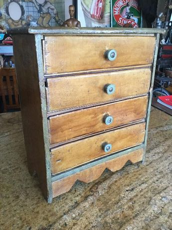 1a8e31d978e Primitive Antique Folk art Chest made from Old Fruit Crates, Drawers,  Apothecary