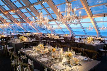 Modern Illinois Planetarium Wedding