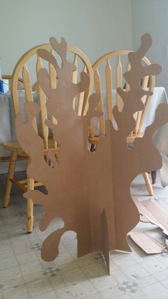 Cardboard coral project.