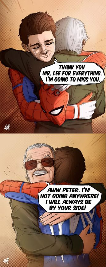 Stan Lee will not be going anywhere with Spiderman again. We will miss you, Stan Lee...