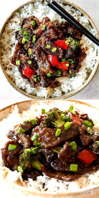 the BEST Mongolian Beef - the sauce is the best I've ever had! The juicy beef is crazy tender and so quick and easy with the option of adding stir fry vegetables! #mongolianbeef #stirfry  #takeoutrecipes   #beeffoodrecipes #beef #beefrecipes #chinesefoodrecipes #chinesefood  #dinner #dinnerrecipes #dinnerideas #recipes #recipeoftheday #easyrecipes
