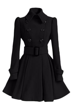 Double Breasted Long Trench Coat