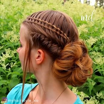 Now that's what I call a unique braided updo!
