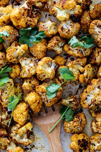 Easy Curry Roasted Cauliflower - Simply Delicious