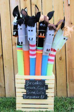 Steckenpferde DIY ganz einfach ⋆ Kindergeburtstag-Planen.de