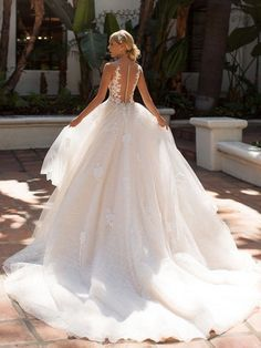Illusion Bateau Bridal Gown Moonlight J6704