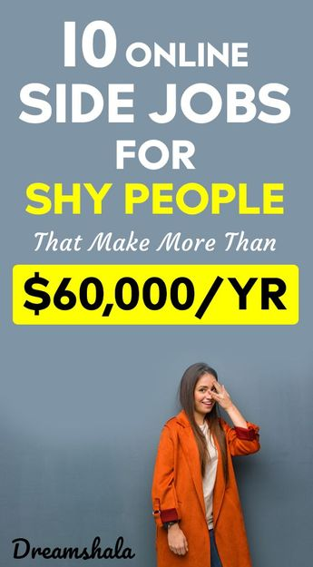10 online side jobs for shy people that make more than $60,000 a year. #genuineonlinejobs #workfromhomejobs #workathomejobs #earnmoneyonline #sideincomejobs #freelancejobs