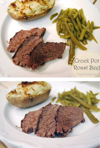 If you love tender roast beef, you have got to try this simple recipe for Crock Pot Roast Beef. It's easy to make and won't heat up the house on those hot summer days.
