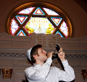 The blowing of the Shofar