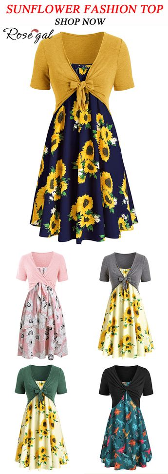 sunflower fashion top or dress for summer