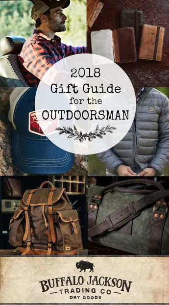 If you're looking for Christmas gift ideas for him this year, check out our 2018 Holiday Gift Guide for men. All the best men's gift ideas for guys who love rugged style and the great outdoors. #giftguide #giftguides #giftsforhim #mensguides #honoryourwild