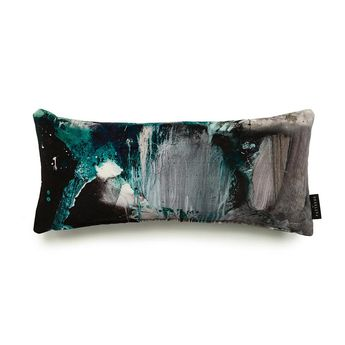 Nebulous Jade Cotton Velvet Cushion - Lumbar
