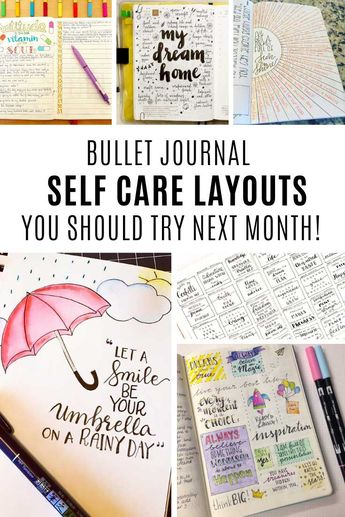 5 Examples of Self Care Activities You Can Do With Your Bullet Journal