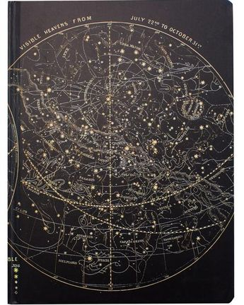 Astronomy Star Chart Hardcover Journal - Dot Grid
