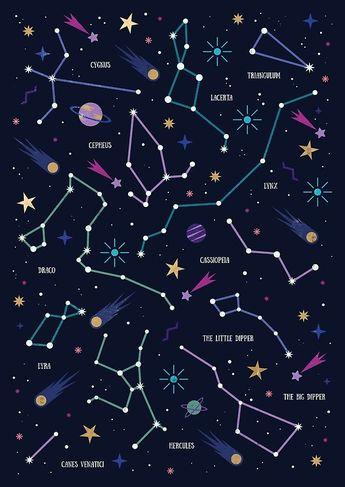 Poster 'Les étoiles' par Carly Watts