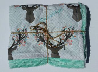 FREE personalization Minky baby blanket baby by BabyEsBoutiqueShop