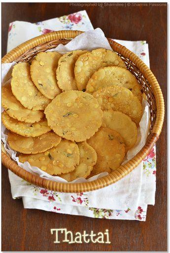Thattai Recipe - Thattai Murukku - How to make thattai